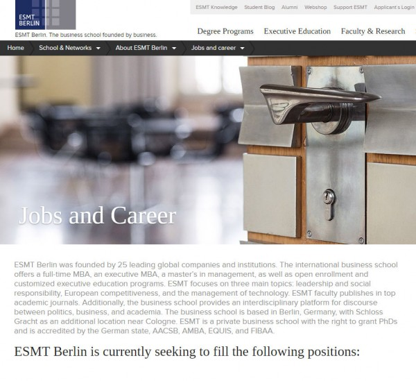 ESMT Berlin - Career Service