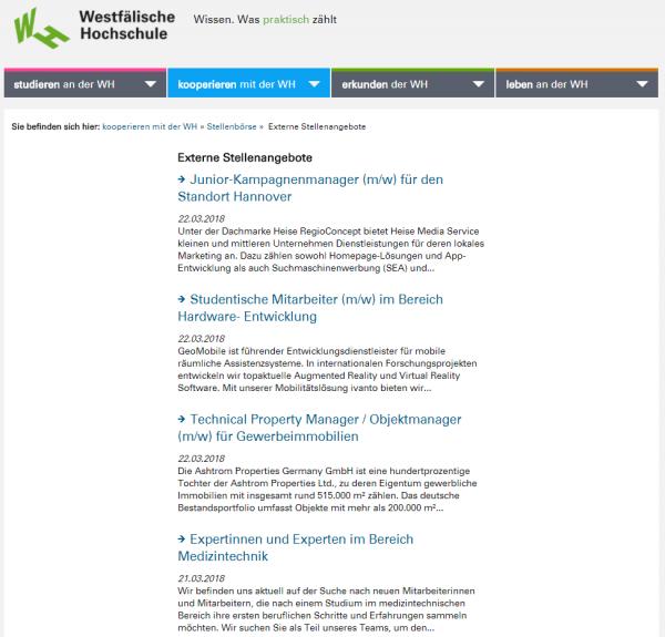 Westfälische HS - Career Service