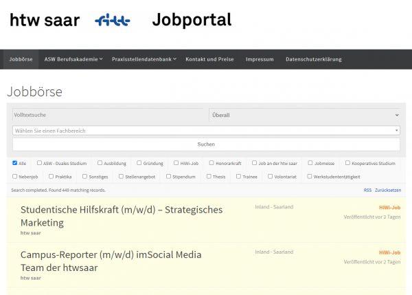 HTW Saarland - Berufsstart