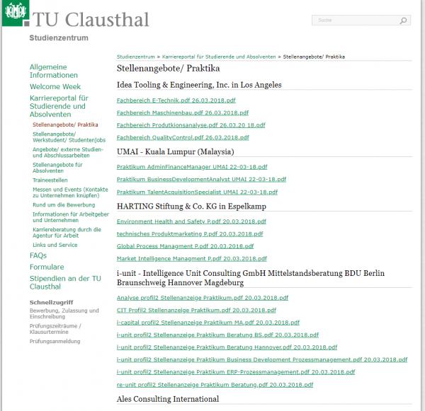 TU Clausthal - Career Center