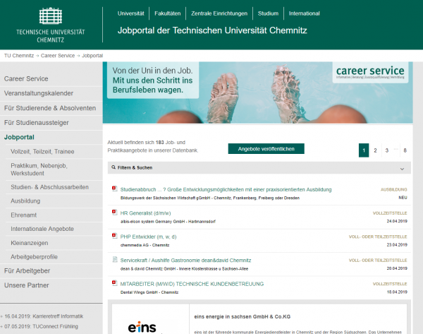 TU Chemnitz (Career Service) - Studenten