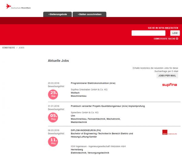 HS RheinMain - Berufsstart