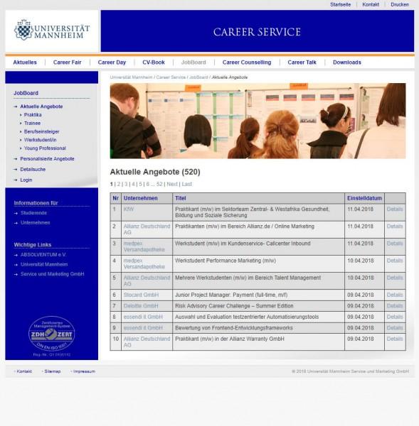 Uni Mannheim - Career Service