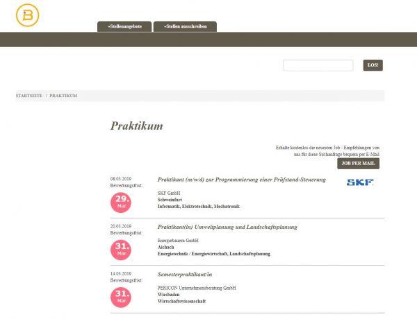 HS Hildesheim/Holzminden/Göttingen (Berufsstart) - Praktikanten
