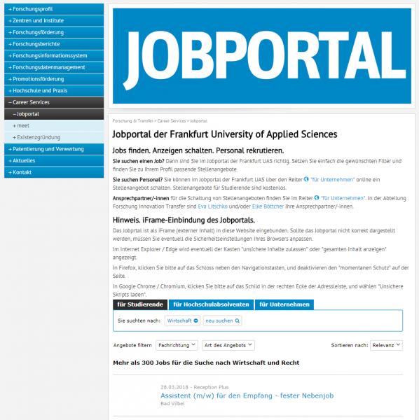 Frankfurt University of Applied Sciences (IQB) - Studenten