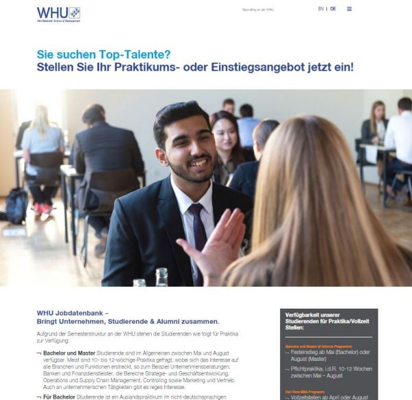 WHU Vallendar/Düsseldorf - Career Center