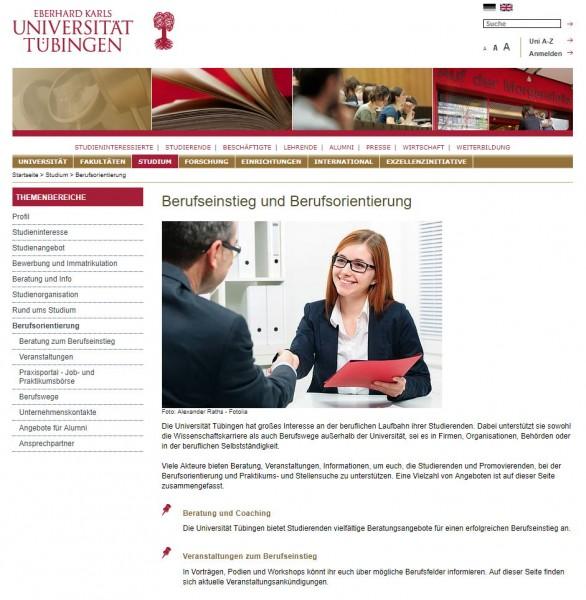 Uni Tübingen - Career Service
