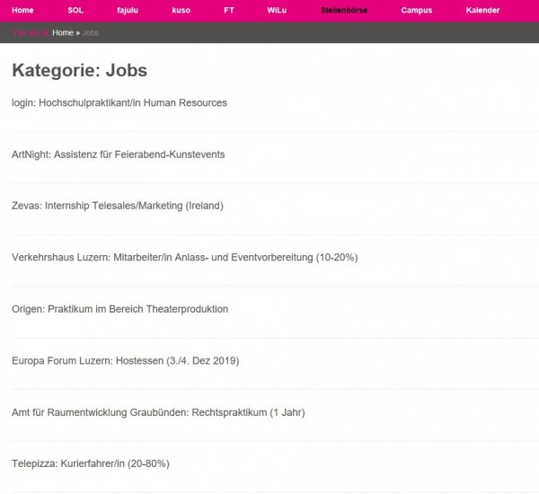 Uni Luzern - Career Service
