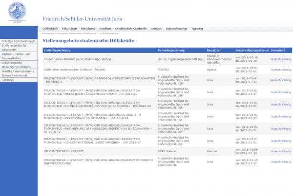Uni Jena - Career Service