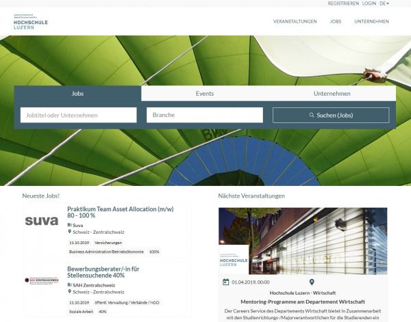 HS Luzern - Career Service