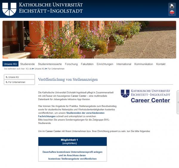 Katholische Universität Eichstätt-Ingolstadt (Wirtschaftswissenschaften) - Studenten