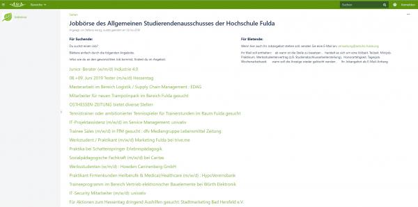 HS Fulda - Jobbörse des AStA
