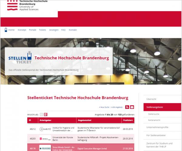 TH Brandenburg (Stellenticket) - Studenten
