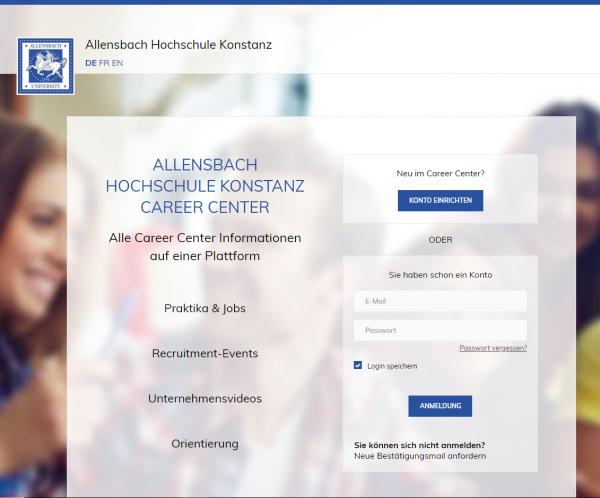 Allensbach Hochschule Konstanz (Karriereportal) - Studenten