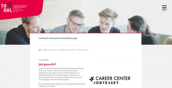 TH Ostwestfalen-Lippe - Career Center