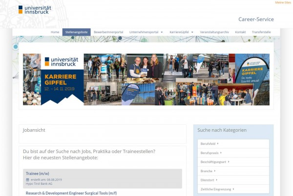Uni Innsbruck - Career Service