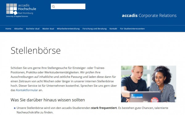 accadis HS Bad Homburg - Career Center