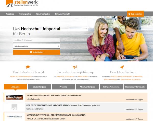 Diverse Hochschulen Berlin (Stellenwerk) - HU - TU - FU - HTW - HWR - Studenten