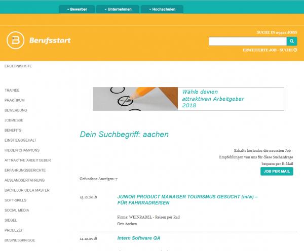 RWTH Aachen - Berufsstart