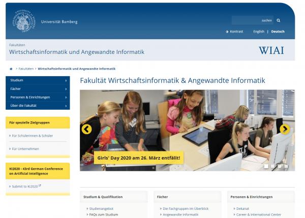 Uni Bamberg (Fachbereich WIAI)