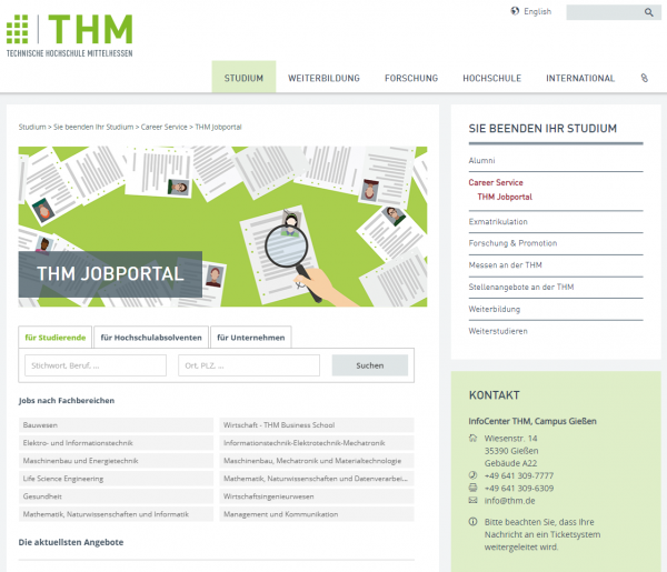 TH Mittelhessen (IQB) - Praktikanten