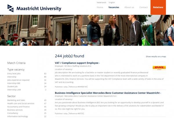 Universität Maastricht (Career Center) - Studenten