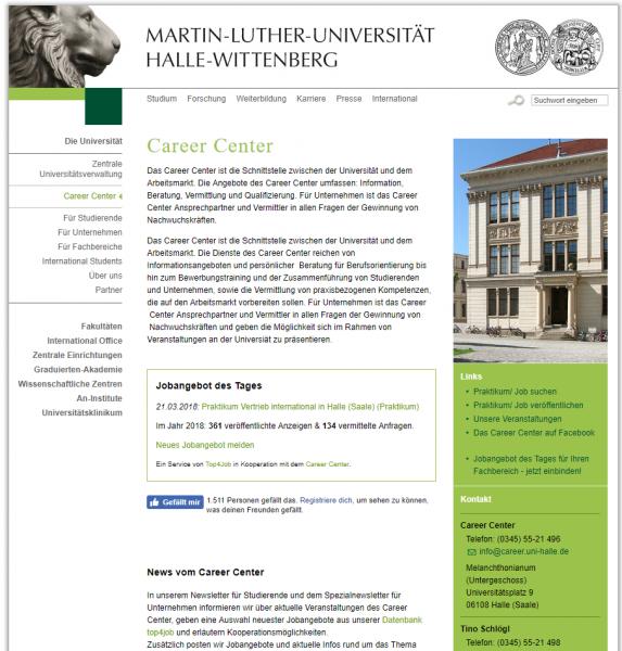 Uni Halle-Wittenberg (Career Center) - Studenten