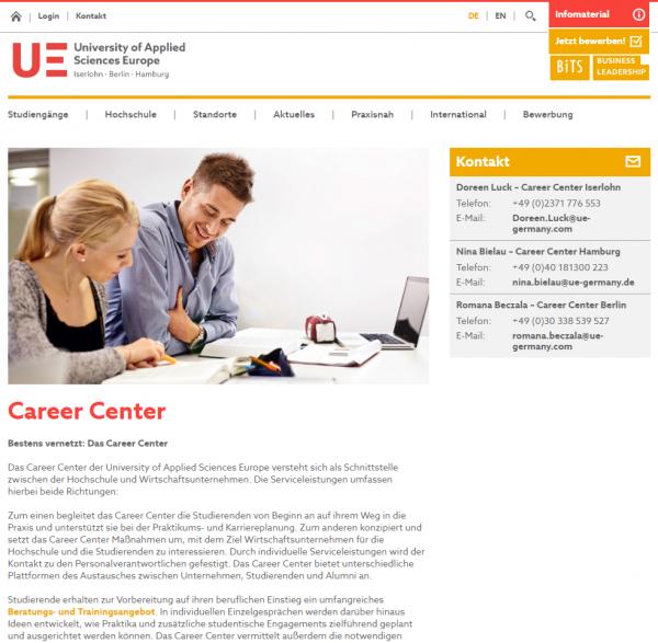 BiTS Iserlohn (Career Service) - Studenten