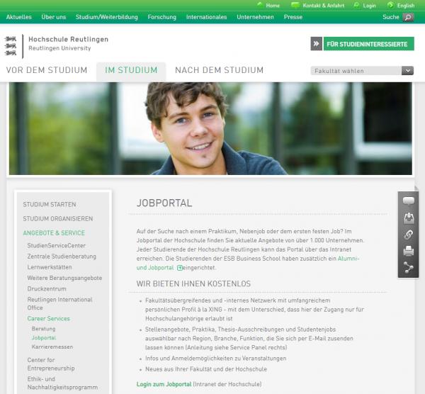 HS Reutlingen - Career Service