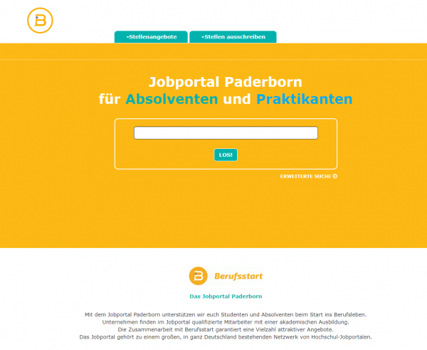 Uni Paderborn (Berufsstart) - Studenten