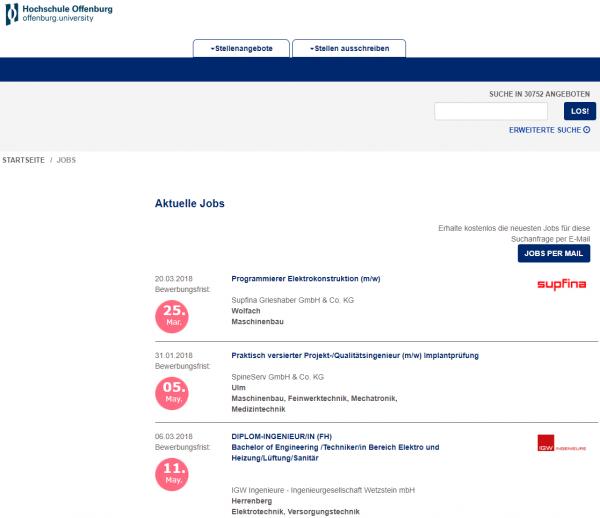 HS Offenburg - Berufsstart