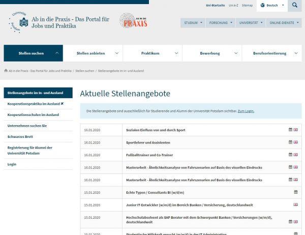 Uni Potsdam - Career Service