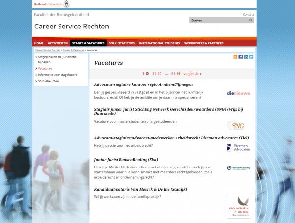 Uni Nimwegen (Fachbereich Jura) (Career Service)