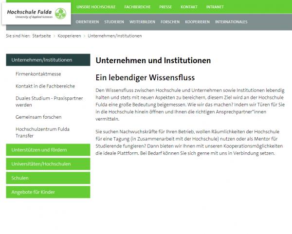 HS Fulda (Career Service) - Studenten