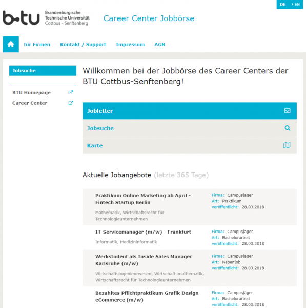 BTU Cottbus (Career Service) - Studenten