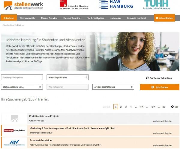 Uni, TU, HAW und HCU Hamburg -Stellenwerk