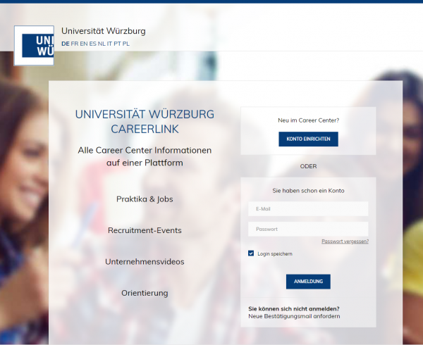 Uni Würzburg (Career Center) - Studenten