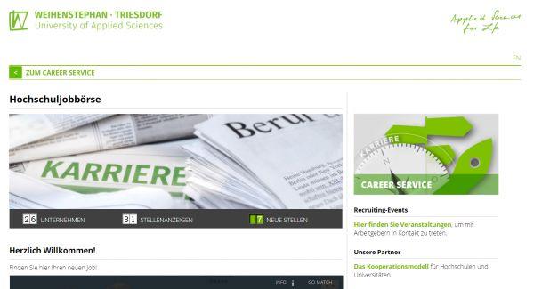 HS Weihenstephan-Triesdorf (Hochschul-Jobbörse) - Praktikanten