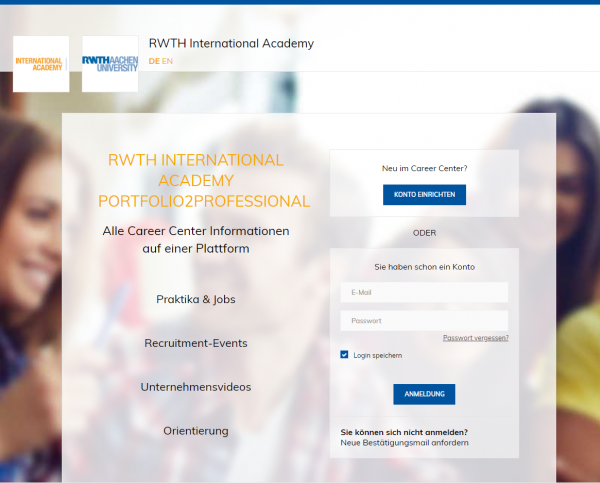 International Academy RWTH Aachen (Career Service) - Studenten