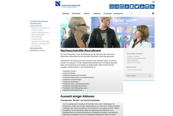 HS Niederrhein (ausschließlich WiWi-Fakultät) - Praktikanten