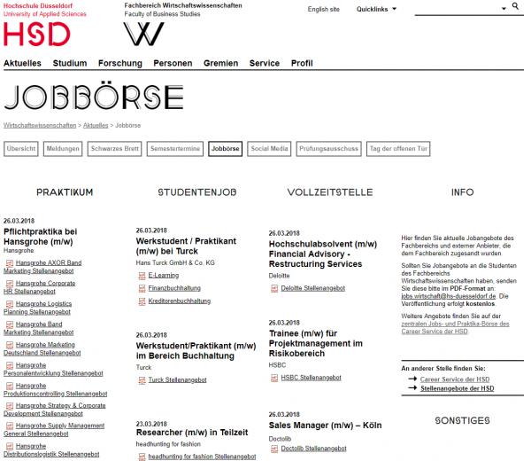 FH Düsseldorf (Career Service) - Studenten