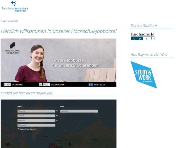 TH Ingolstadt - Hochschul-Jobbörse