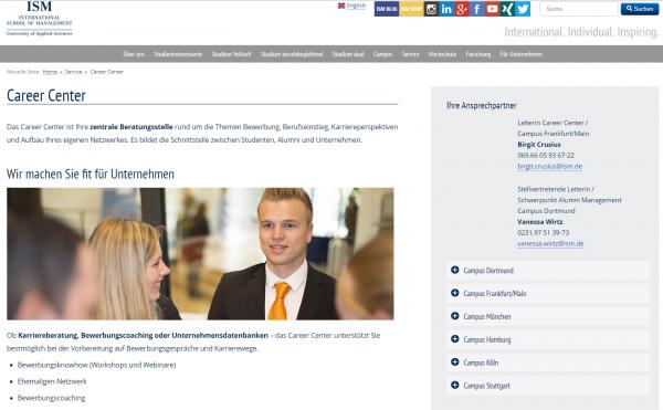 ISM Dortmund (Career Service) - Studenten