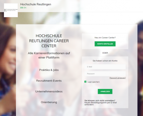 HS Reutlingen (Career Service) - Studenten