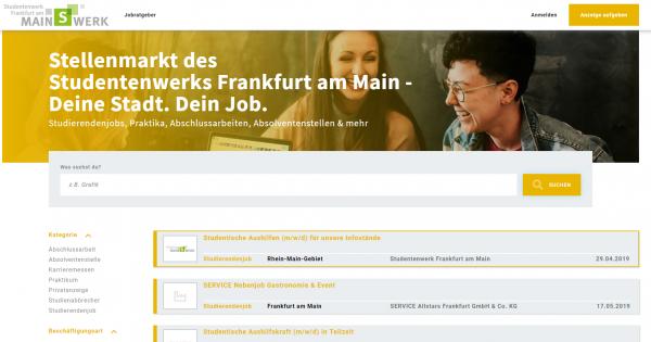 Stellenmarkt Studentenwerk Frankfurt am Main - Studenten