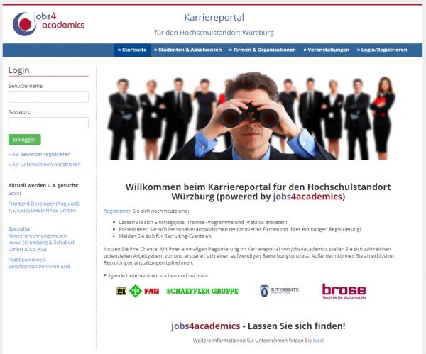 Uni Würzburg (Job4academics) - Studenten