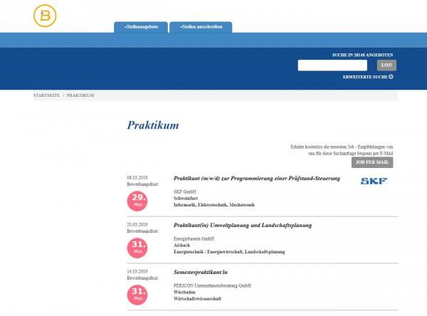 Uni Würzburg - Berufsstart