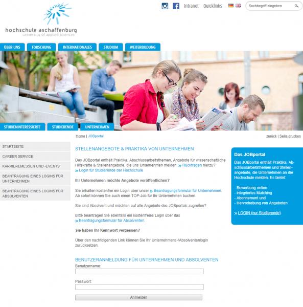 TH Aschaffenburg (Career Service) - Studenten