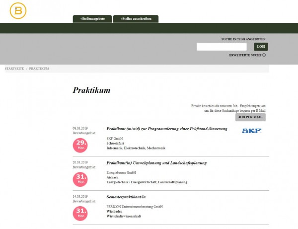Uni Mainz - Berufsstart
