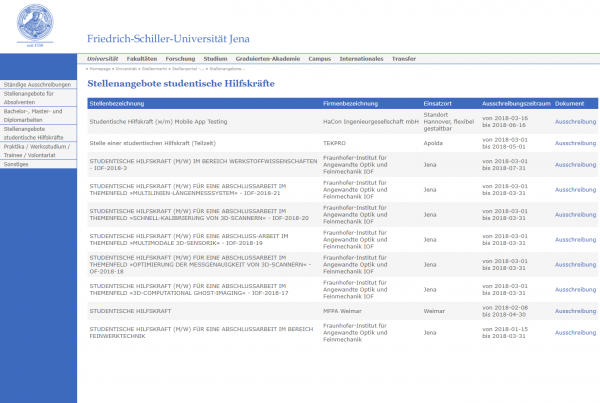 Uni Jena (Career Service) - Studenten